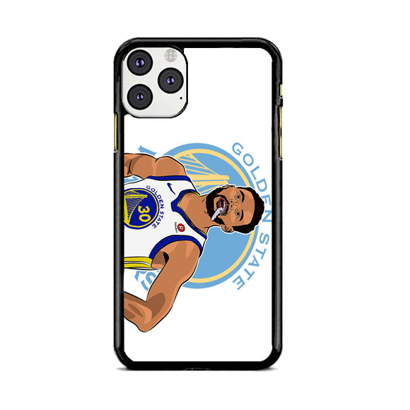 Stephen Curry Warriors Illustration iPhone 11 Pro Case | Frostedcase