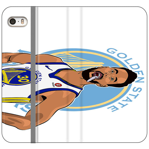 Stephen Curry Warriors Illustration iPhone 5|5S|SE Flip Case | Frostedcase
