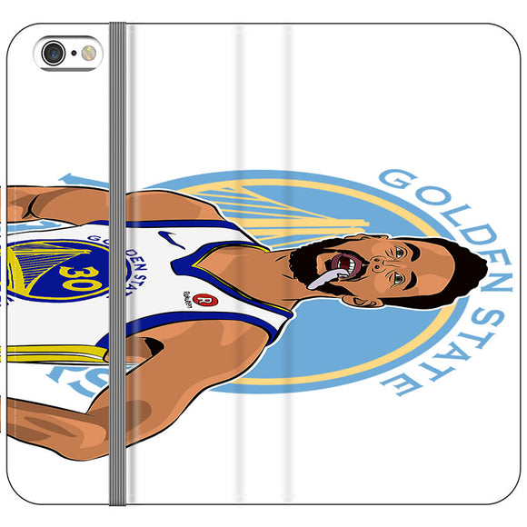 Stephen Curry Warriors Illustration iPhone 6|6S Flip Case | Frostedcase