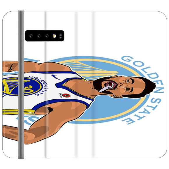 Stephen Curry Warriors Illustration Samsung Galaxy S10 Plus Flip Case | Frostedcase