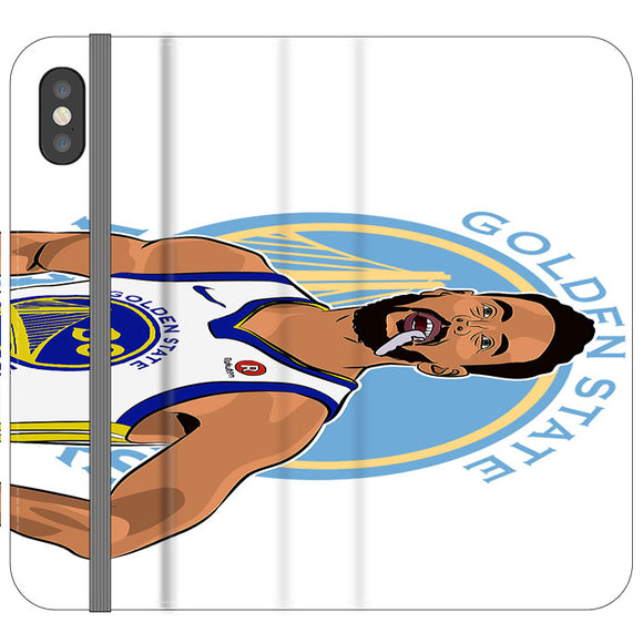 Stephen Curry Warriors Illustration iPhone X Flip Case | Frostedcase
