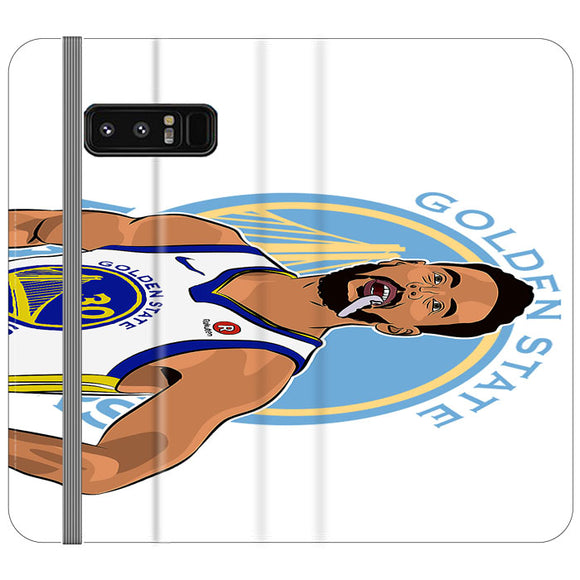 Stephen Curry Warriors Illustration Samsung Galaxy Note 8 Flip Case | Frostedcase