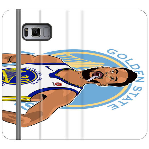 Stephen Curry Warriors Illustration Samsung Galaxy S8 Flip Case | Frostedcase