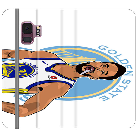 Stephen Curry Warriors Illustration Samsung Galaxy S9 Flip Case | Frostedcase