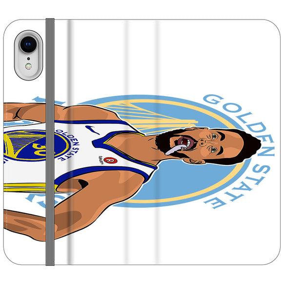 Stephen Curry Warriors Illustration iPhone XR Flip Case | Frostedcase
