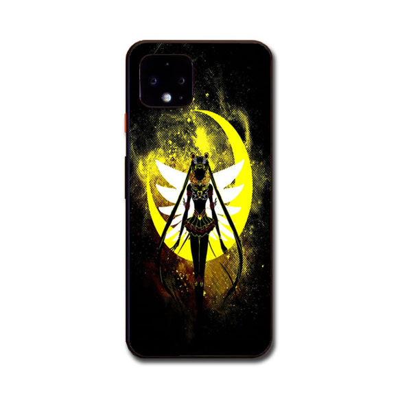 Sailor Moon Silhouette In The Moon Google Pixel 4 Case | Frostedcase