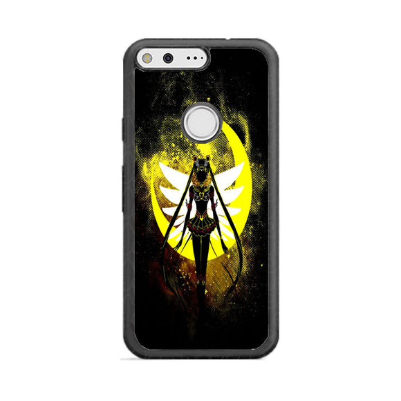 Sailor Moon Silhouette In The Moon Google Pixel Case | Frostedcase