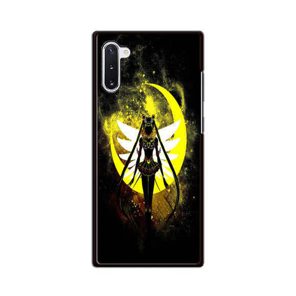 Sailor Moon Silhouette In The Moon Samsung Galaxy Note 10 Case | Frostedcase