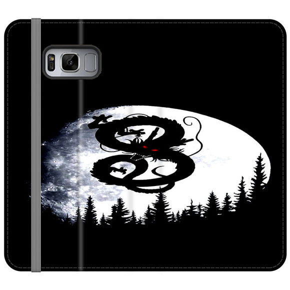 Shenron Dragon Ball Silhouette Samsung Galaxy S8 Plus Flip Case | Frostedcase