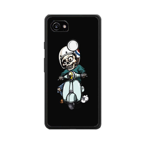 Skull Scooter Vector Google Pixel 2 XL Case | Frostedcase