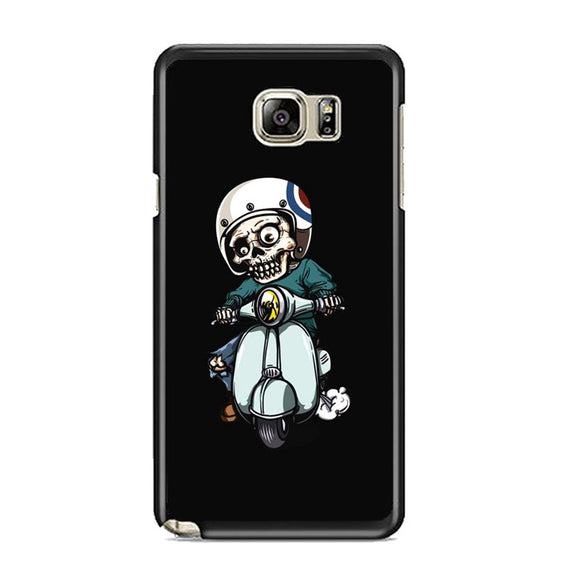 Skull Scooter Vector Samsung Galaxy Note 5 Case | Frostedcase