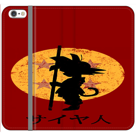 Son Goku Red Silhouette And Moon iPhone 6 Plus|6S Plus Flip Case | Frostedcase