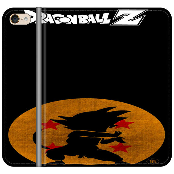 Son Goku Silhouette Of The Moon And Logotype iPod 6 Flip Case | Frostedcase