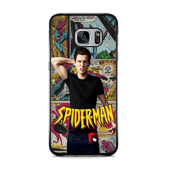 Spiderman Comic X Tom Holland Samsung Galaxy S7 Case | Frostedcase