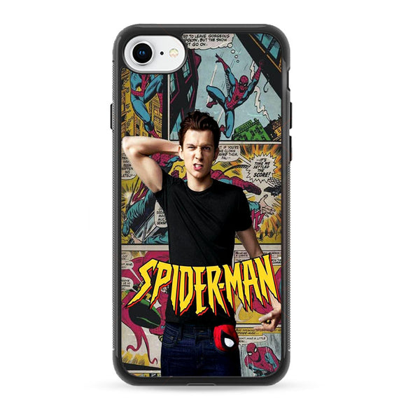 Spiderman Comic X Tom Holland iPhone 8 Case | Frostedcase