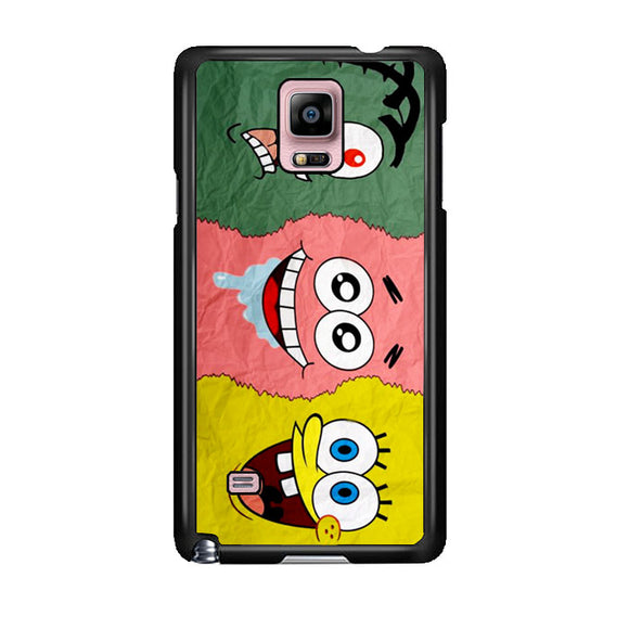 Spongebob Face And Friends Samsung Galaxy Note 4 Case | Frostedcase