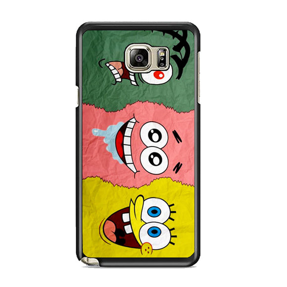 Spongebob Face And Friends Samsung Galaxy Note 5 Case | Frostedcase