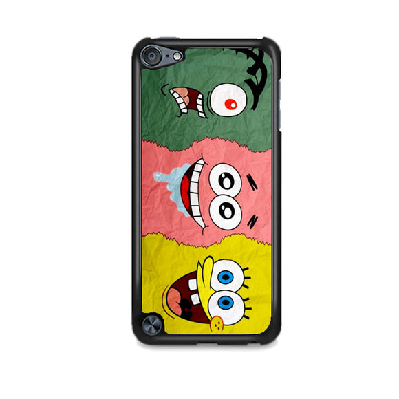 Spongebob Face And Friends iPod 5 Case | Frostedcase