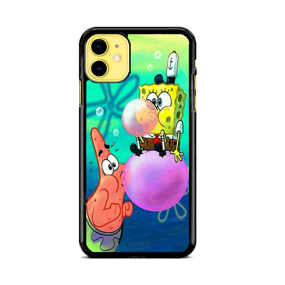 Spongebob X Patrick Bubble Gum Paint iPhone 11 Case | Frostedcase