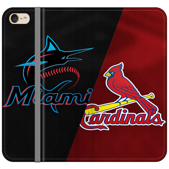 St Louis Cardinals X Miami Marlins Emblem iPod 6 Flip Case | Frostedcase