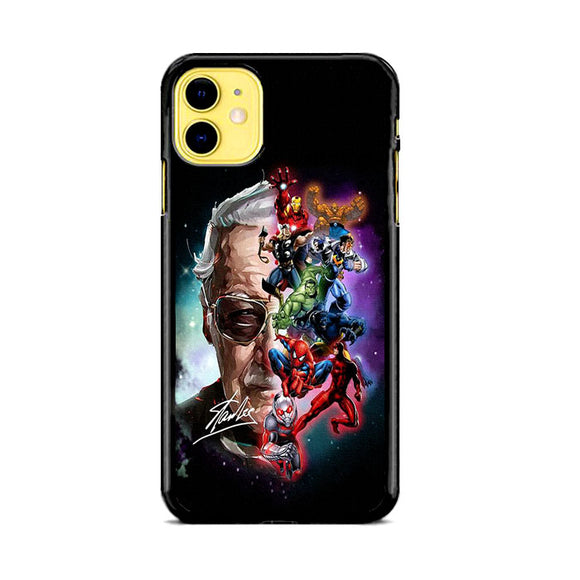 Stan Lee And The Marvel Painting Character iPhone 11 Case | Frostedcase