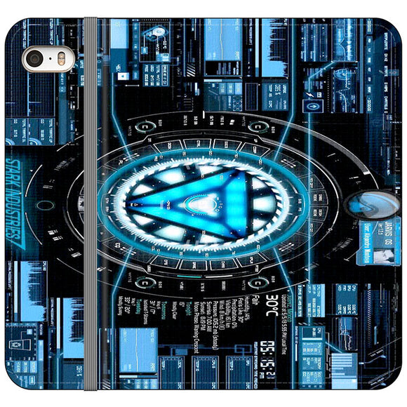 Stark Industries Blue X Iron Man iPhone 5|5S|SE Flip Case | Frostedcase