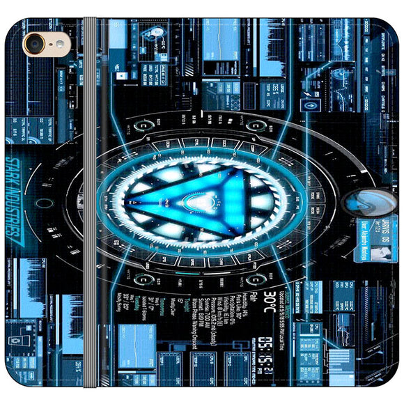 Stark Industries Blue X Iron Man iPod 6 Flip Case | Frostedcase