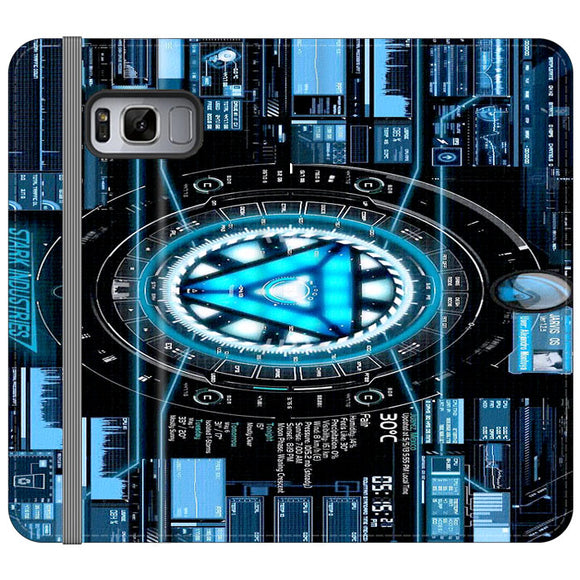 Stark Industries Blue X Iron Man Samsung Galaxy S8 Plus Flip Case | Frostedcase
