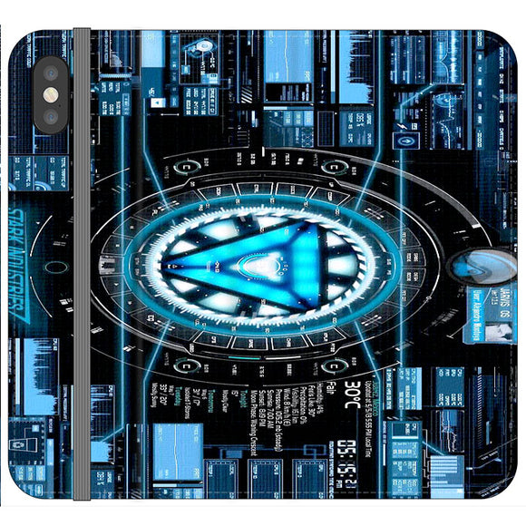 Stark Industries Blue X Iron Man iPhone XS Max Flip Case | Frostedcase