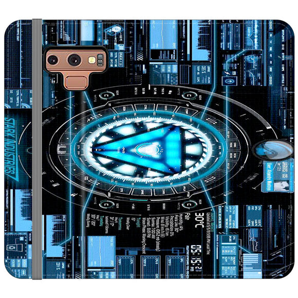 Stark Industries Blue X Iron Man Samsung Galaxy Note 9 Flip Case | Frostedcase