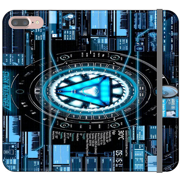 Stark Industries Blue X Iron Man iPhone 8 Plus Flip Case | Frostedcase