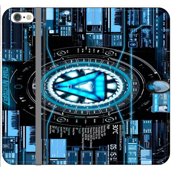 Stark Industries Blue X Iron Man iPhone 6|6S Flip Case | Frostedcase