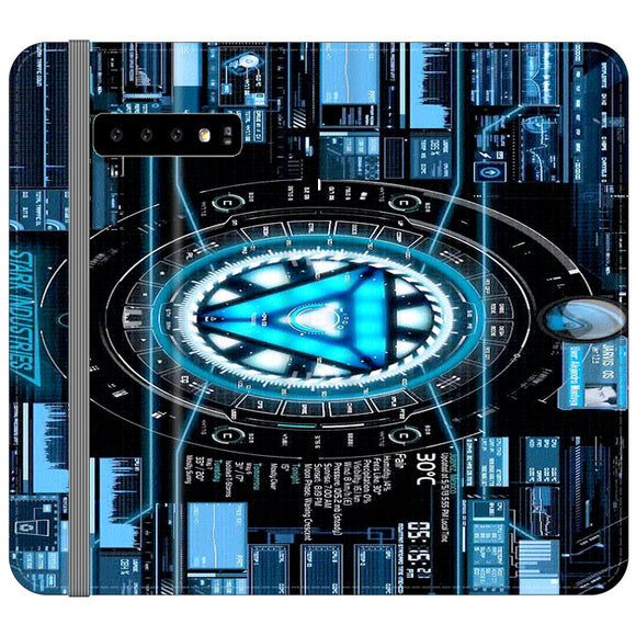 Stark Industries Blue X Iron Man Samsung Galaxy S10 Plus Flip Case | Frostedcase