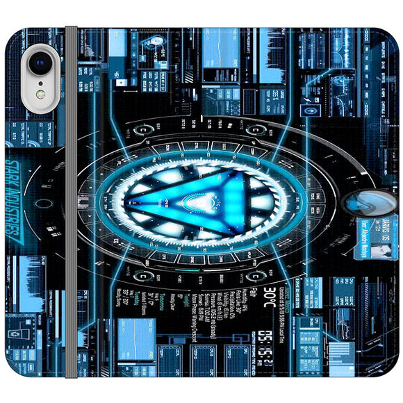 Stark Industries Blue X Iron Man iPhone XR Flip Case | Frostedcase