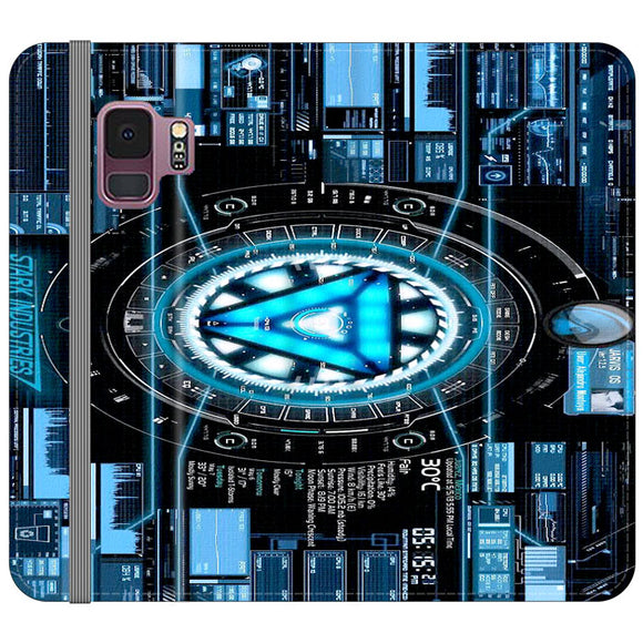 Stark Industries Blue X Iron Man Samsung Galaxy S9 Flip Case | Frostedcase