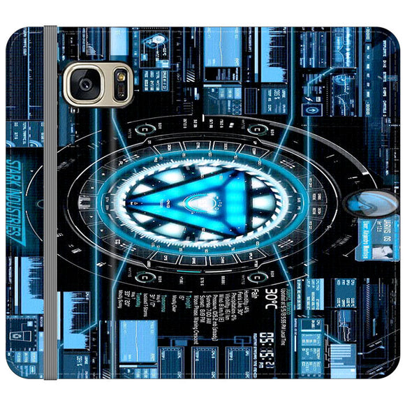 Stark Industries Blue X Iron Man Samsung Galaxy S7 EDGE Flip Case | Frostedcase