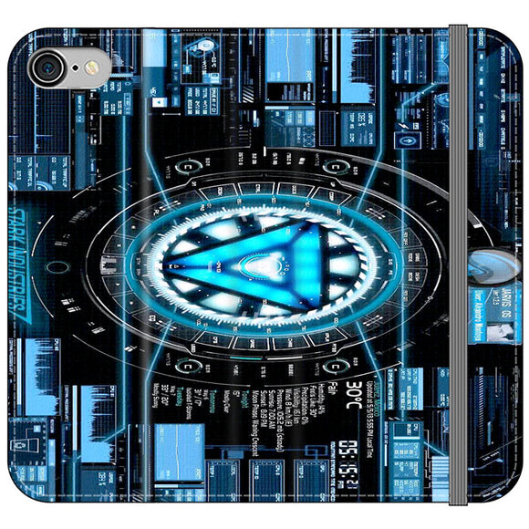 Stark Industries Blue X Iron Man iPhone 8 Flip Case | Frostedcase