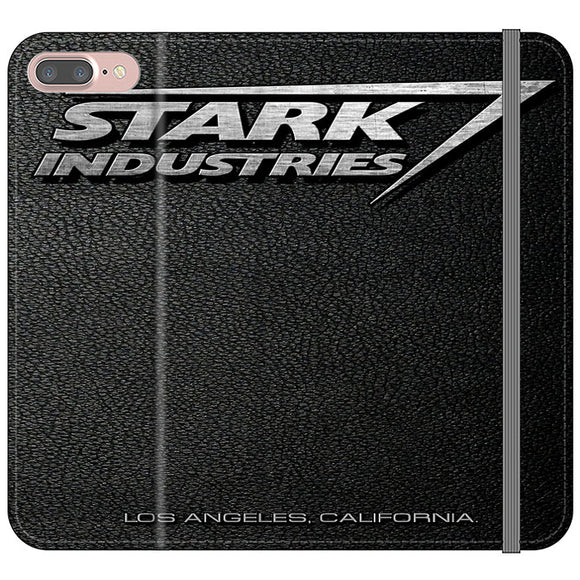 Stark Industries Orange Peel iPhone 7 Plus Flip Case | Frostedcase