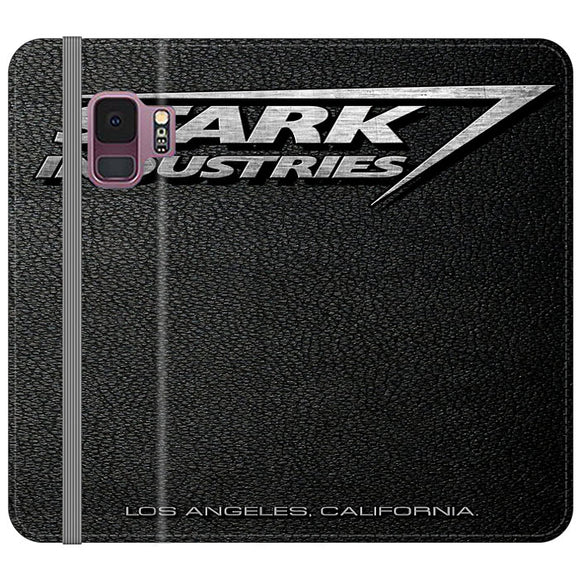 Stark Industries Orange Peel Samsung Galaxy S9 Flip Case | Frostedcase