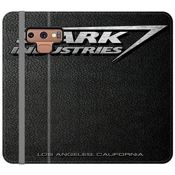 Stark Industries Orange Peel Samsung Galaxy Note 9 Flip Case | Frostedcase