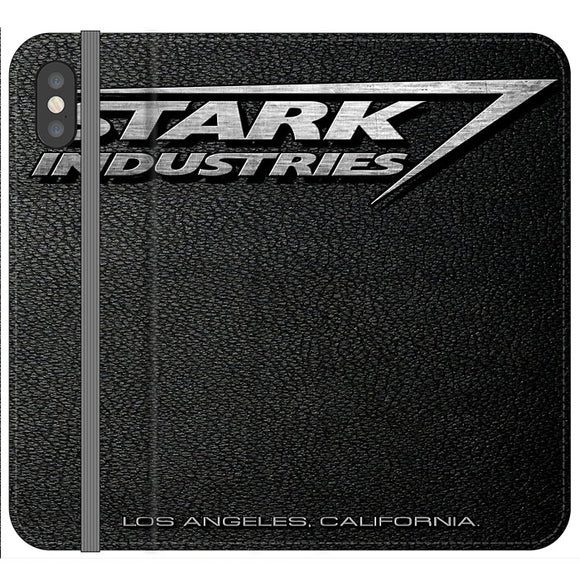 Stark Industries Orange Peel iPhone XS Max Flip Case | Frostedcase