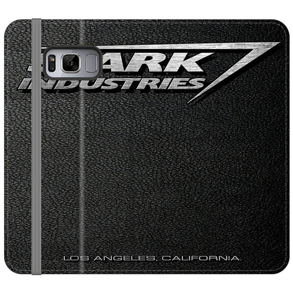 Stark Industries Orange Peel Samsung Galaxy S8 Flip Case | Frostedcase