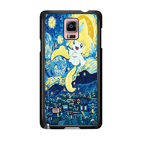 Starry Pokemon Jirachi Samsung Galaxy Note 4 Case | Frostedcase