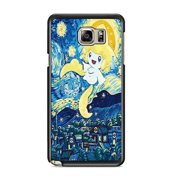 Starry Pokemon Jirachi Samsung Galaxy Note 5 Case | Frostedcase
