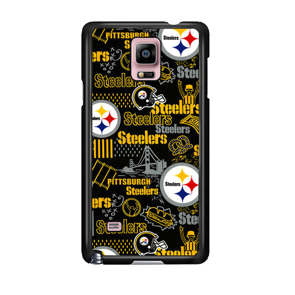 Steelers American Doodle Samsung Galaxy Note 4 Case | Frostedcase