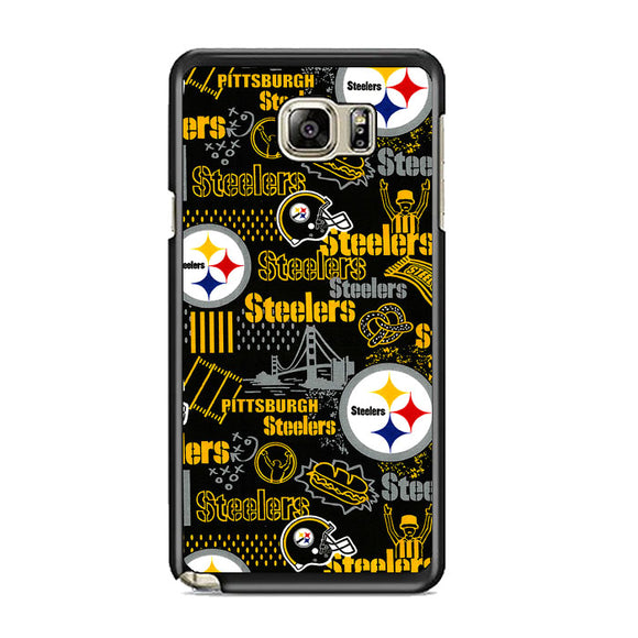 Steelers American Doodle Samsung Galaxy Note 5 Case | Frostedcase