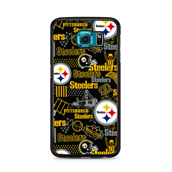 Steelers American Doodle Samsung Galaxy S6 Case | Frostedcase