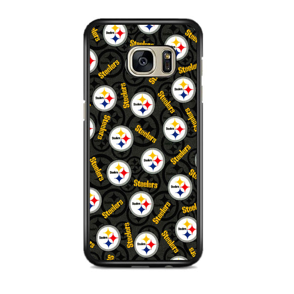 Steelers American Emblem Doodle Samsung Galaxy S7 EDGE Case | Frostedcase