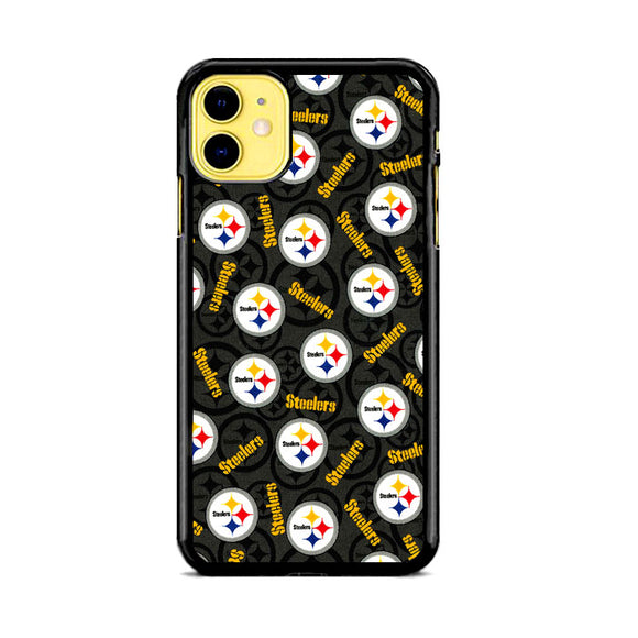 Steelers American Emblem Doodle iPhone 11 Case | Frostedcase