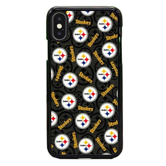 Steelers American Emblem Doodle iPhone XS Case | Frostedcase